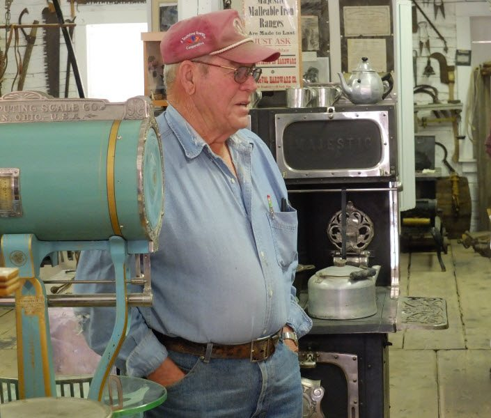 Don Edmund at the Pioneer Store Museum in Chloride