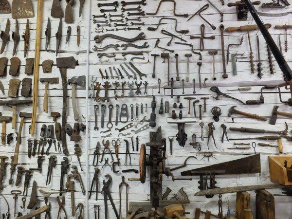 Tool display at Pioneer Store Museum