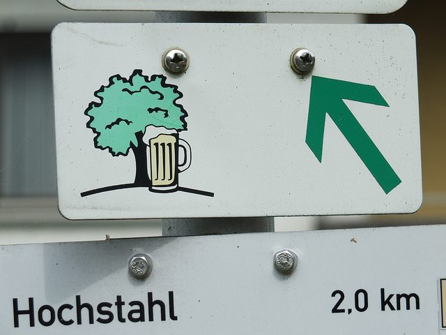 brewery hike sign