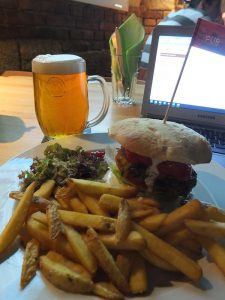 lunch and a beer