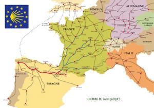 Camino Santiago Routes