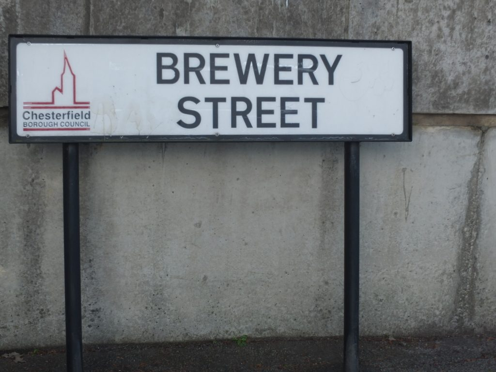 Sign for Brewery Street