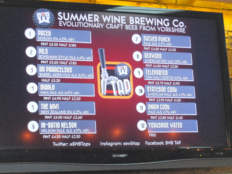 Summer Wine Brewing Company offering
