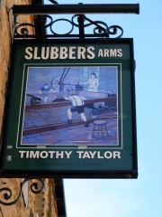 """Slubbers Arms (slubber = """"To do hastily, imperfectly, or sloppily"""")"""