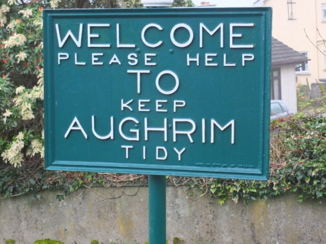 Aughrim is noted as a tidy place