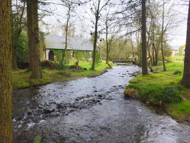 Stream and chapel near Macreddin