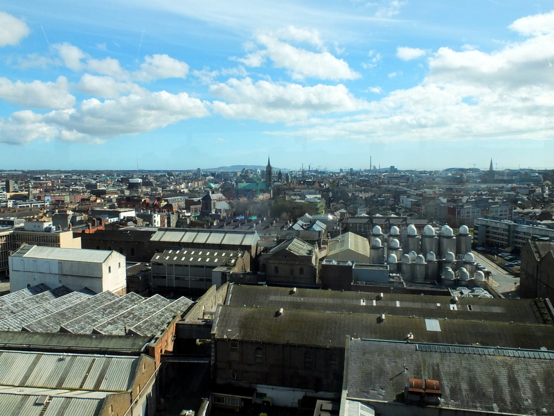 view of Dublin from Guinness penthouse tasting room