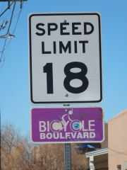 Speed limit on a bicycle boulevard