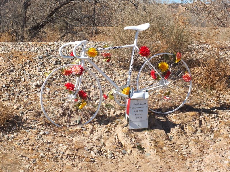 Memorial to a fallen biker