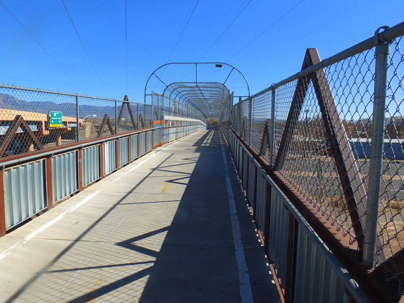 Second Street bridge on Paseo del Norte Trail