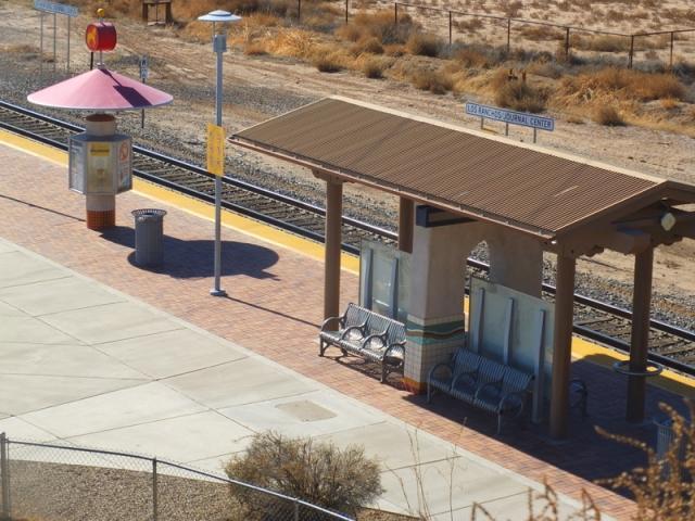 Journal Center Railrunner station on Paseo del Norte Trail