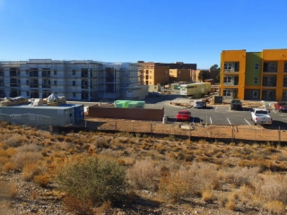 Apartment construction along the route