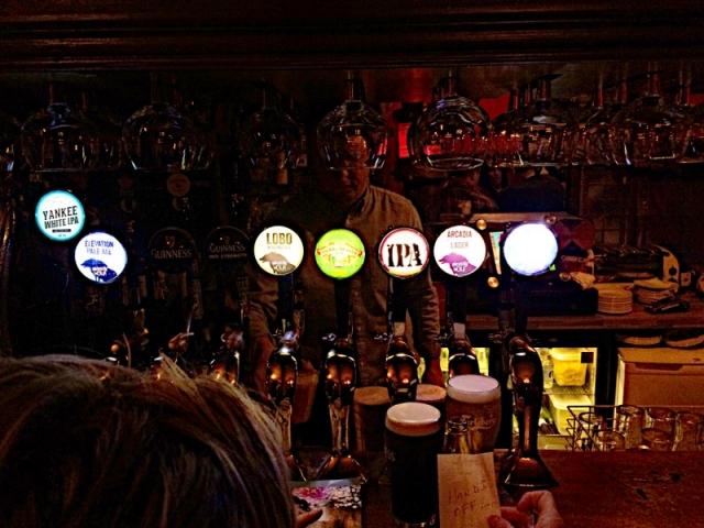 dark bar at Harbor Bar
