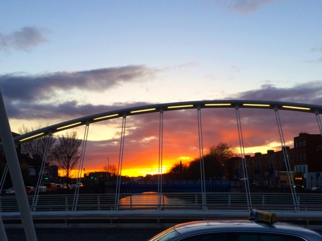 Sunset over the Liffey