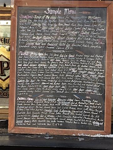 L. Mulligan Grocer menu