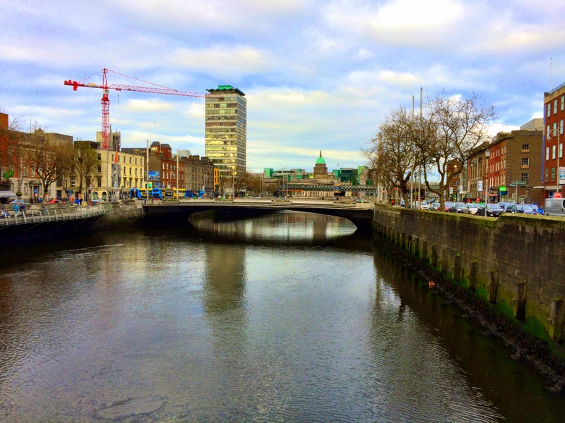River Liffey in Central Dublin