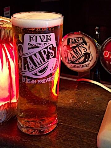 Five Lamps Dublin Lager at P. Macs