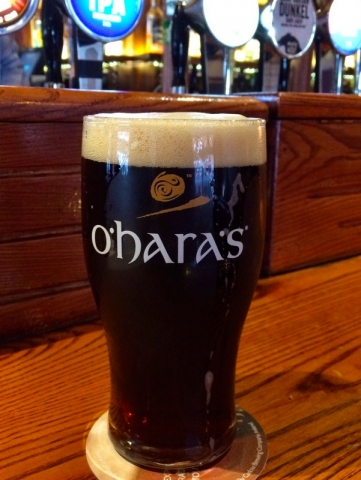 Wicklow Wolf Dunkel (in an O'Hara's glass)