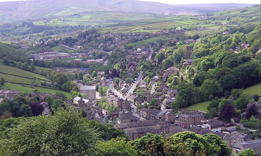 Aerial view of Holmfirth
