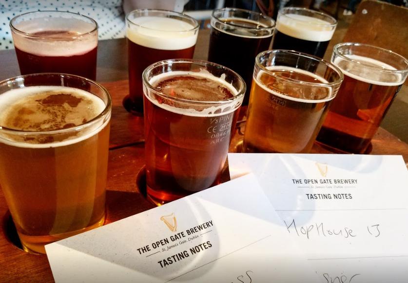 Open Gate Brewery sampling