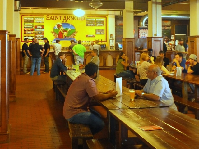 St. Arnold beer hall