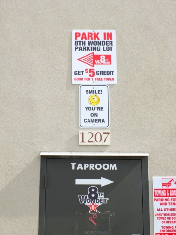 8th Wonder Brewery signs