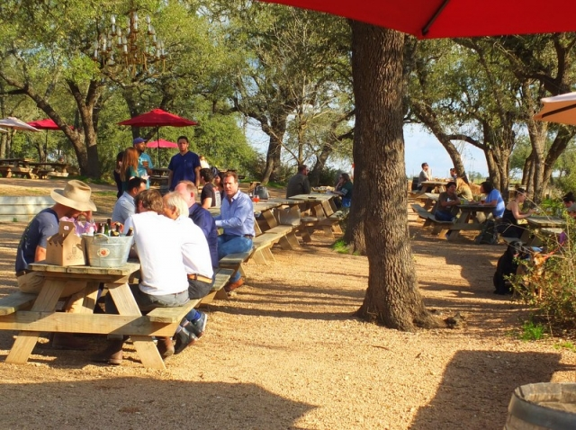 Jester King outdoor seating