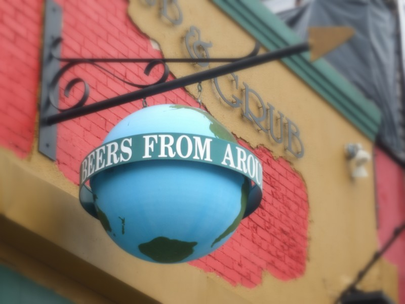 San Marcos bar sign
