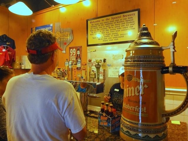 Spoetzl Brewery tasting room