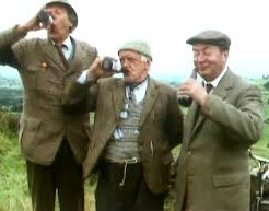 Summerwine cast members quaffing a cool one