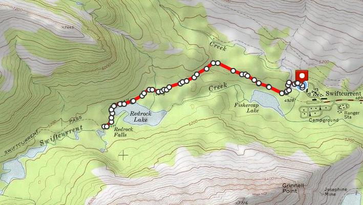 Redrock Falls hike