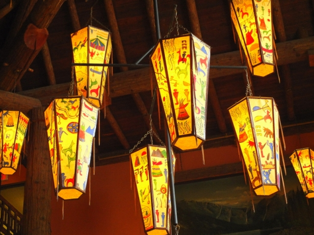 CCC light shades at Lake McDonald Lodge