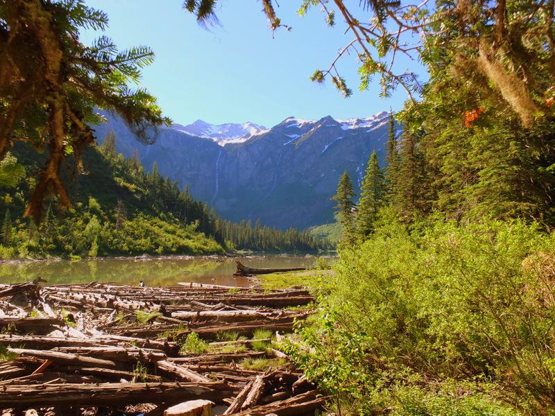 approaching Avalanche Lake