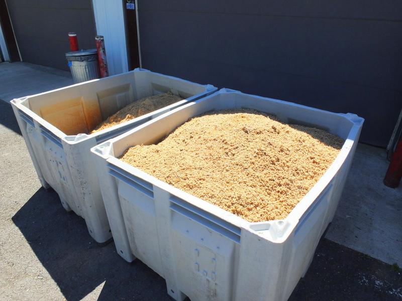 spent grain outside Boneyard