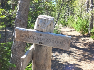 Pacific Coast Trail marker