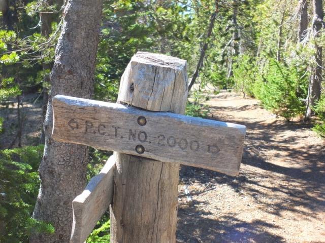 Pacific Coast Trail marker