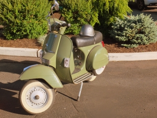 old-school scooter