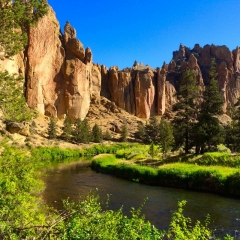cliffs above the Crooked River