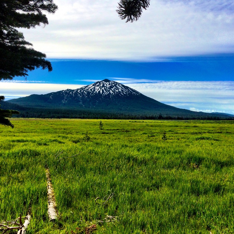 Mount Bachelor from near Sisters Mirror Lake Trailhead