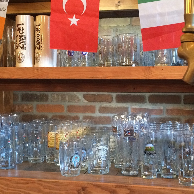 glassware - wish they had all of those beers on hand