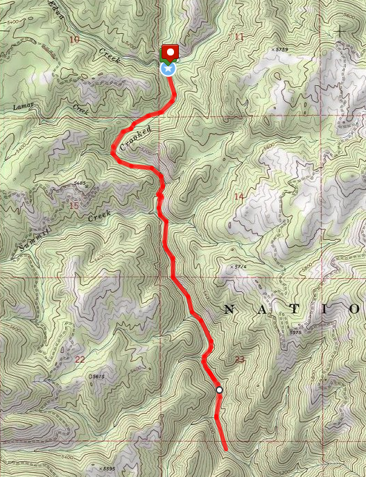 Crooked River hike route