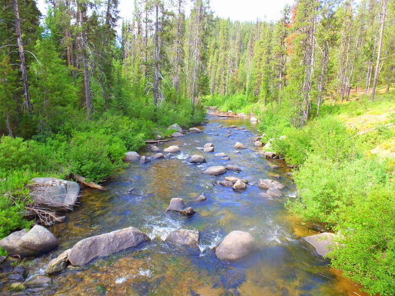 straight stretch of the Crooked River