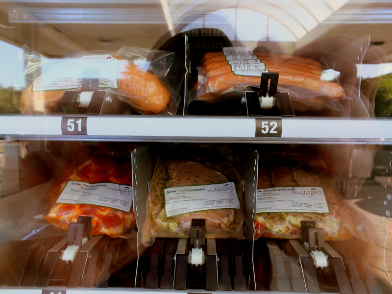 Pork vending machine - you don't see that every day