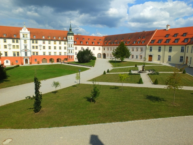 monastery courtyard - view from my hotel window