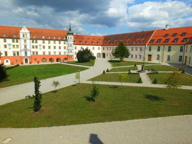 monastery courtyard - view from my hotel window