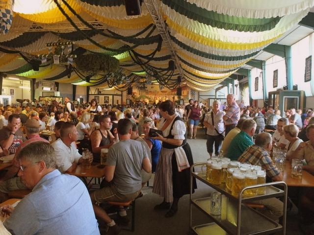 Hallertauer Volksfest beer tent