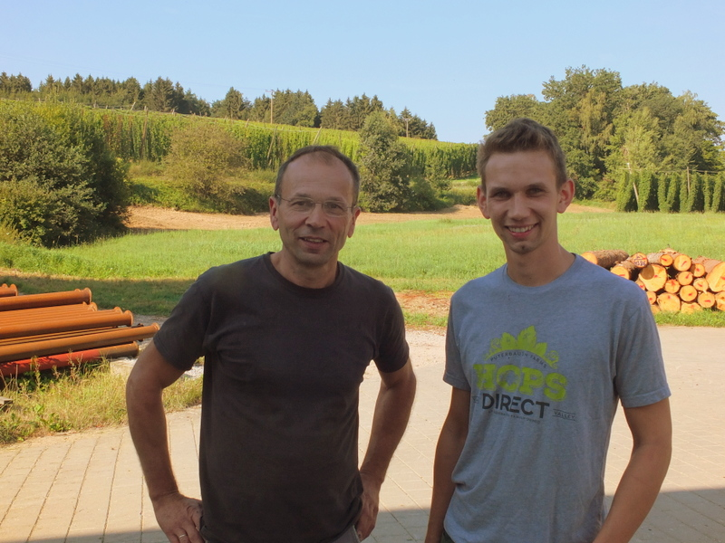 Andreas Widmann with his father