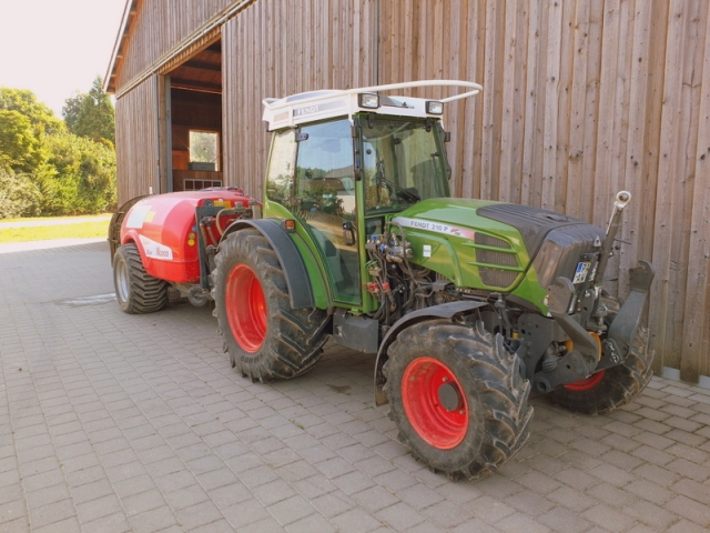 specialized tractor and spraying equipment