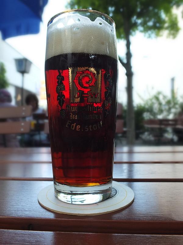 Augustiner Dunkles - a dark malty brew