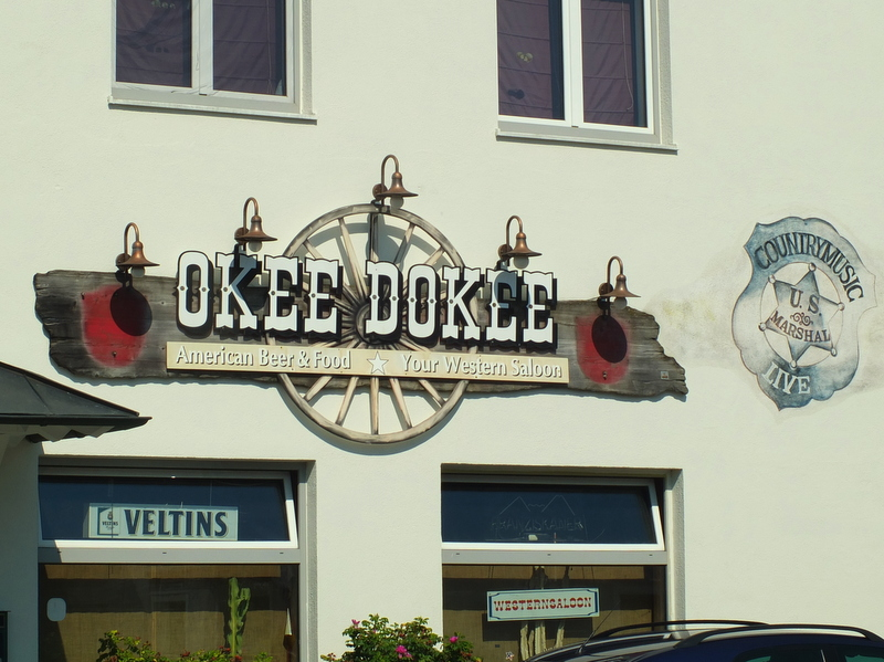 the Okee Dokee Saloon in Au de Hallertau